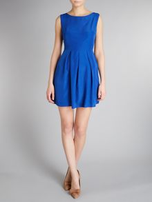 Box pleat skater dress