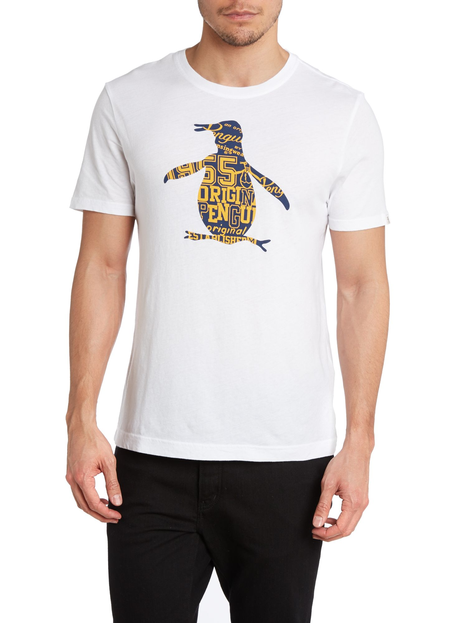 College penguin t shirt