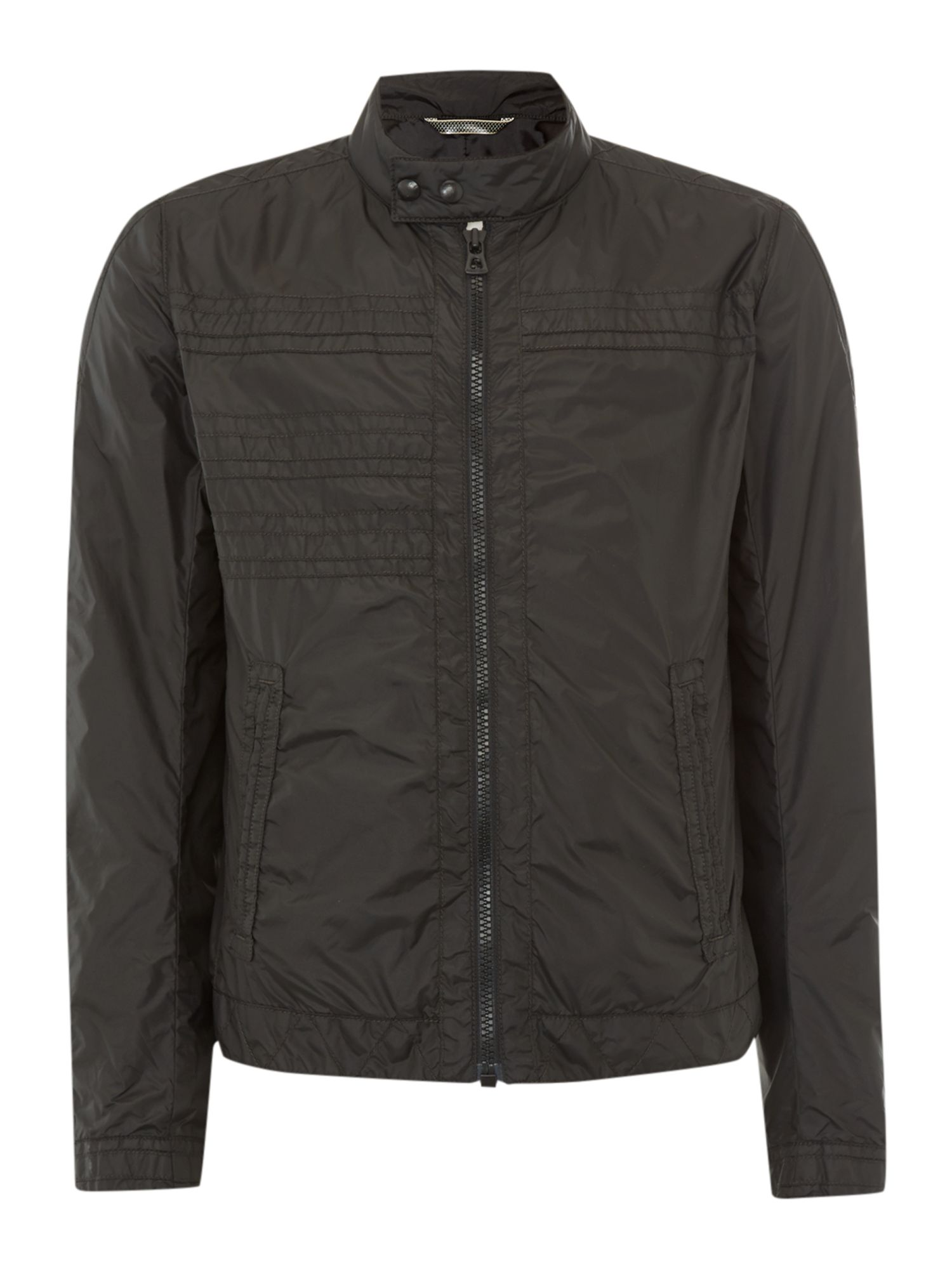 Zip up two pocket nylon jacket