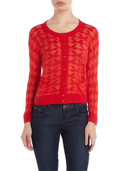 Armani Jeans Cropped dragonfly cardigan
