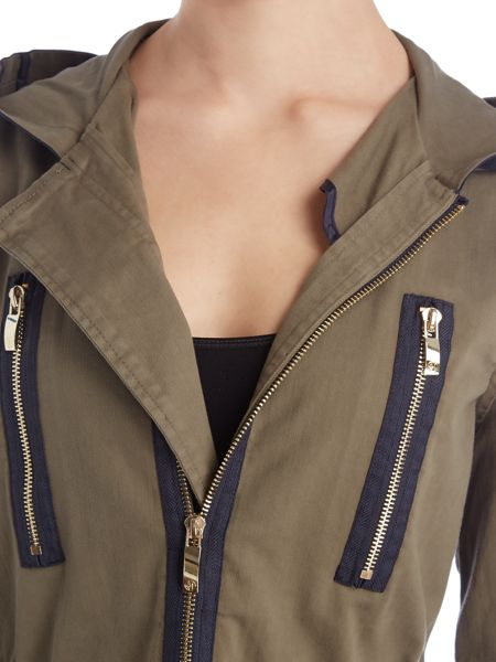 Armani Jeans Parka with contrast trim