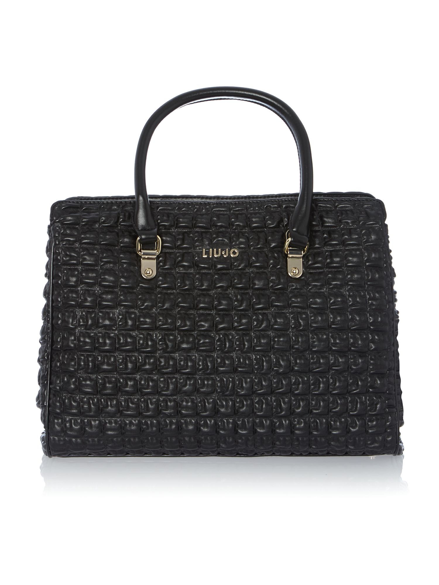 Juliette black quilt tote bag