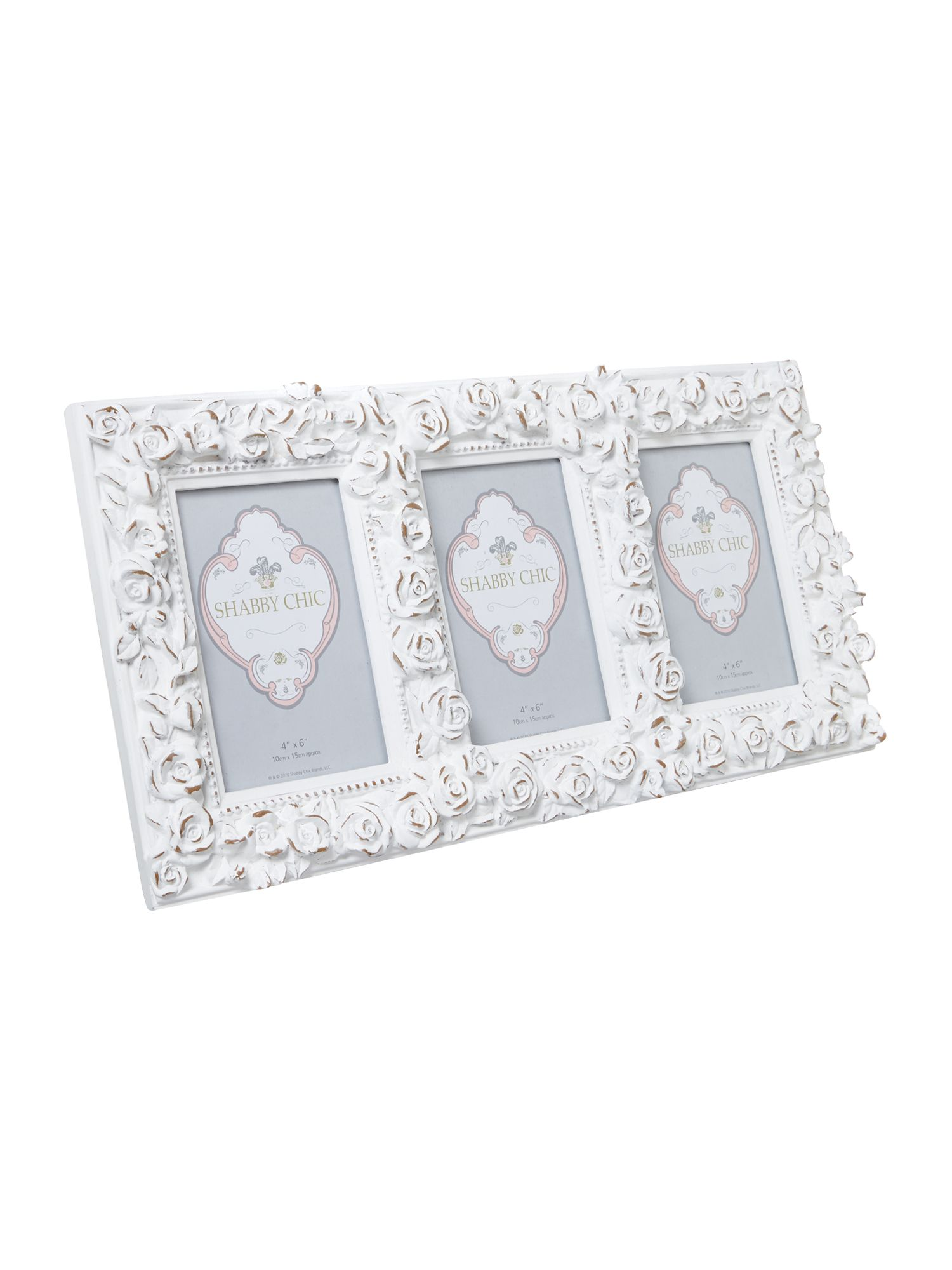 Rose triple aperture photo frame