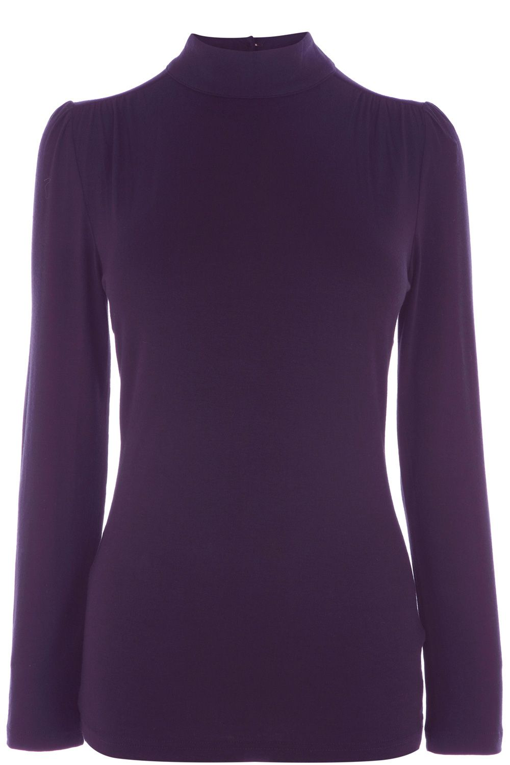 Gathered polo neck