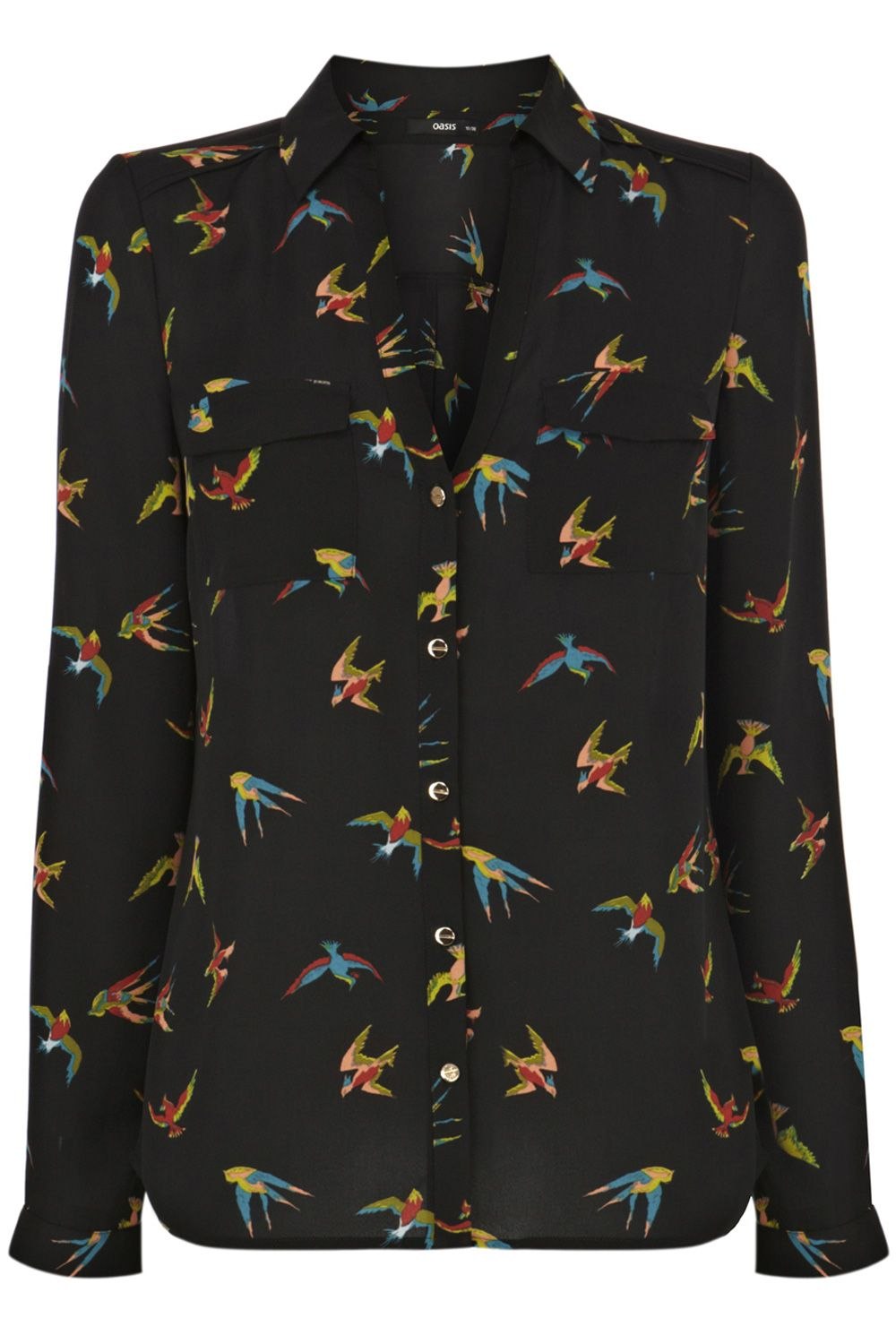 Tropical bird shirt
