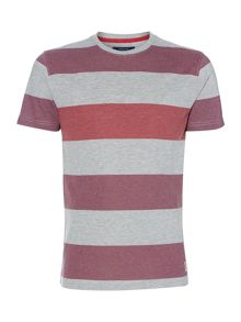 Marl block stripe tee