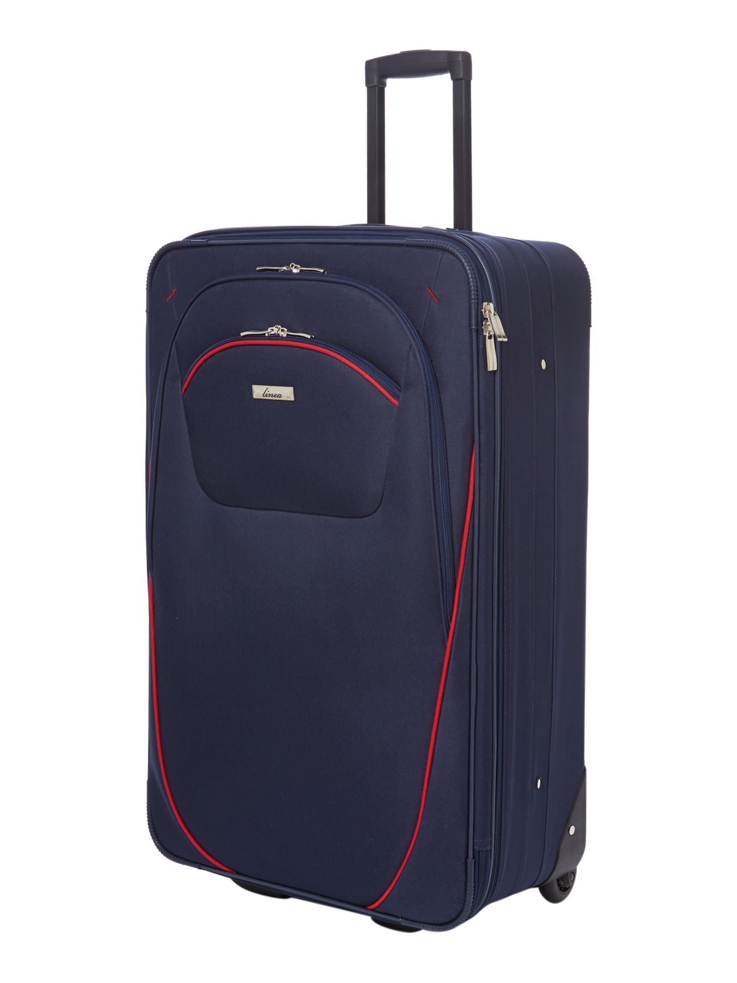 Brixham medium navy suitcase