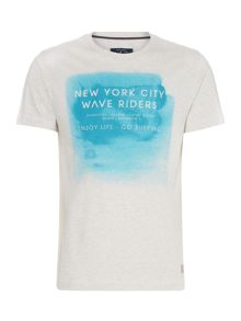 Watercolour graphic tee