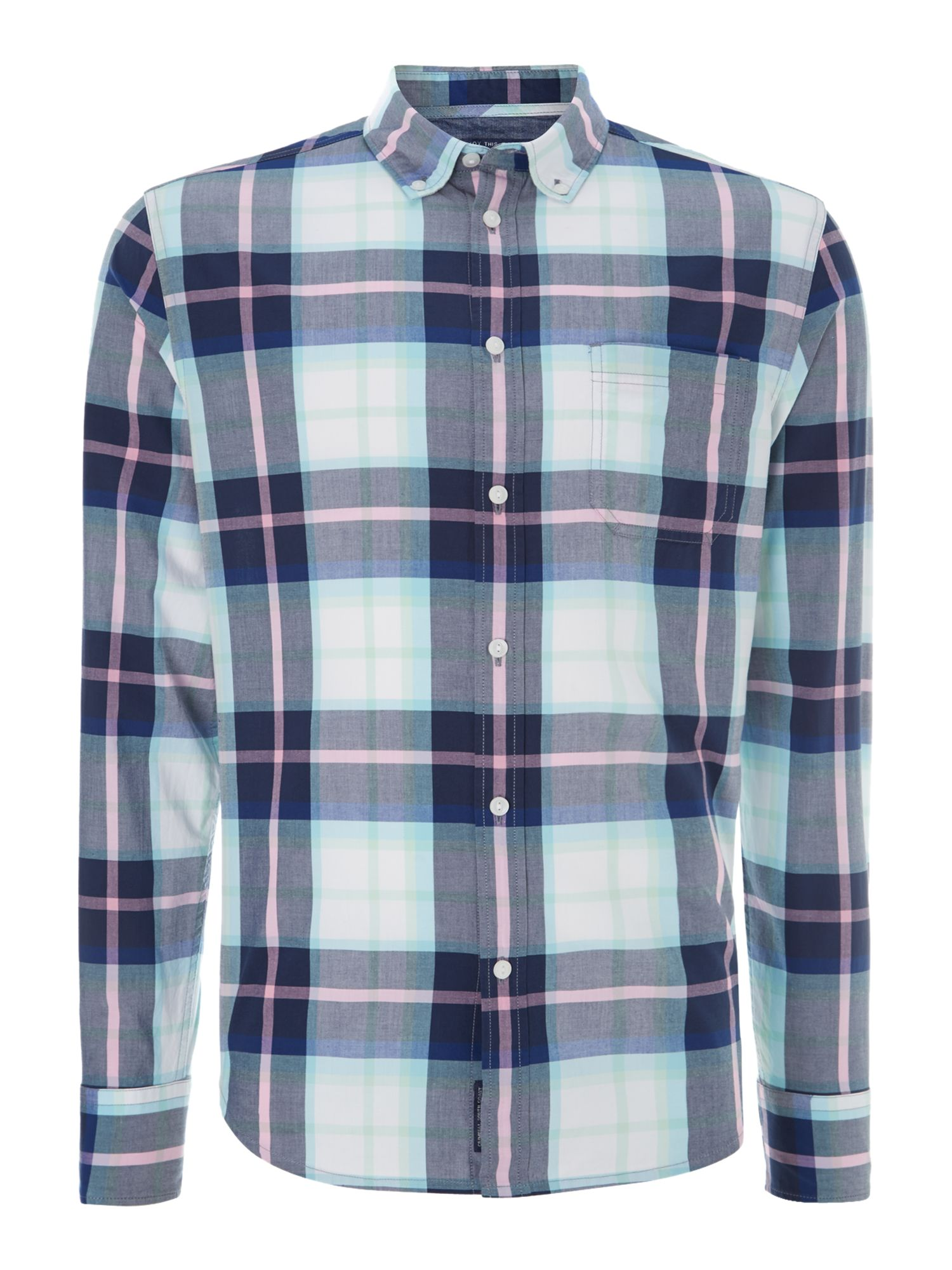 Barstow check long-sleeved shirt