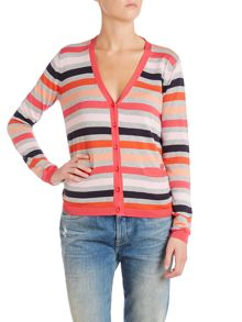 Long sleeve stripe cardigan