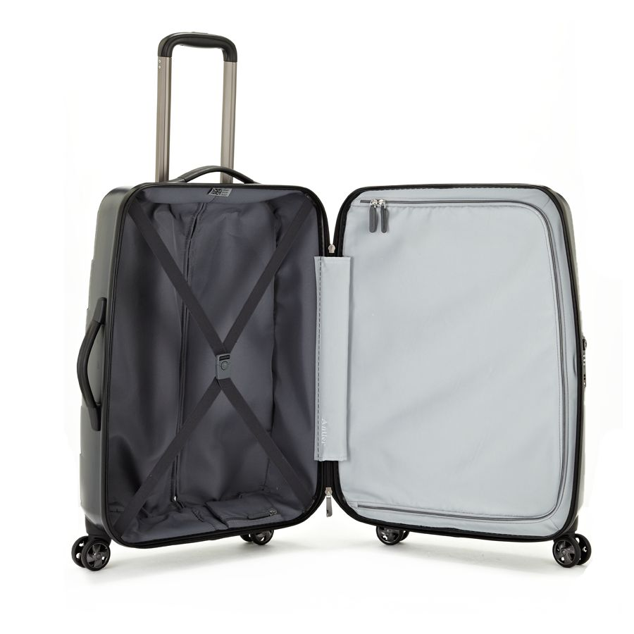 Camden Matt charcoal medium suitcase