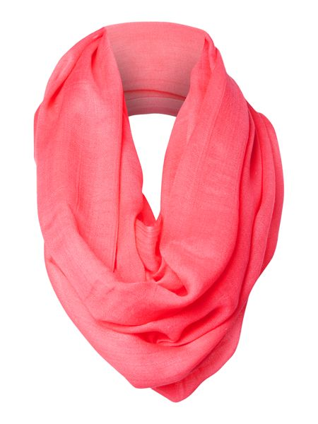 Episode Solid crepe infinity scarf