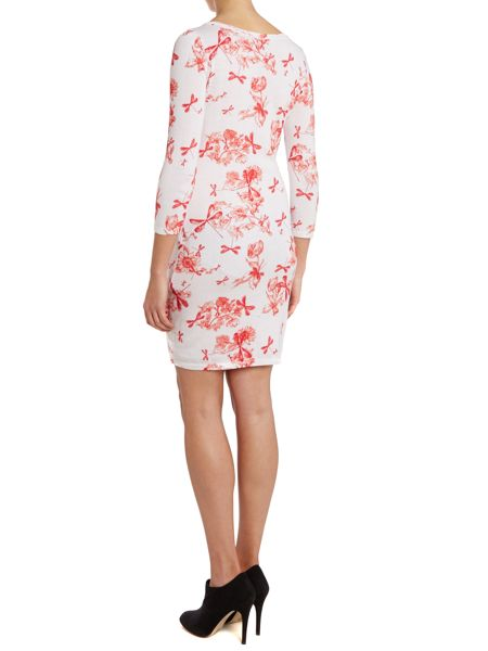 Armani Jeans Long sleeve dragonfly print dress
