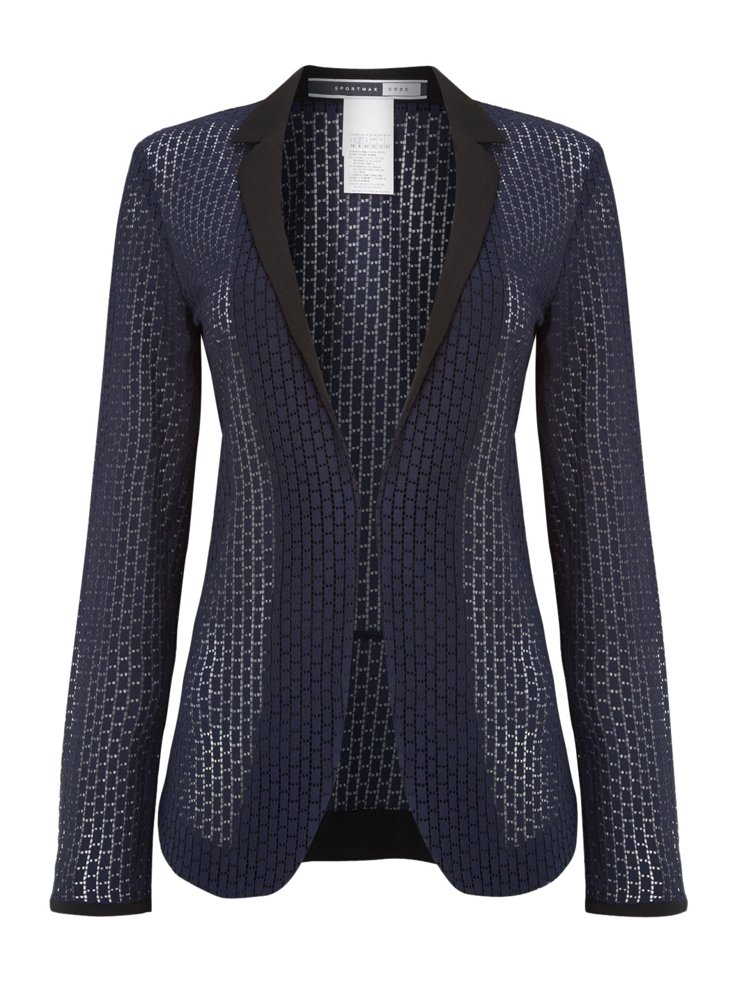 Capanna perforated blazer