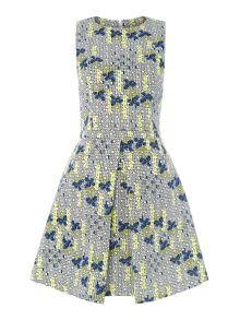 Terzo flower print fit and flare dress