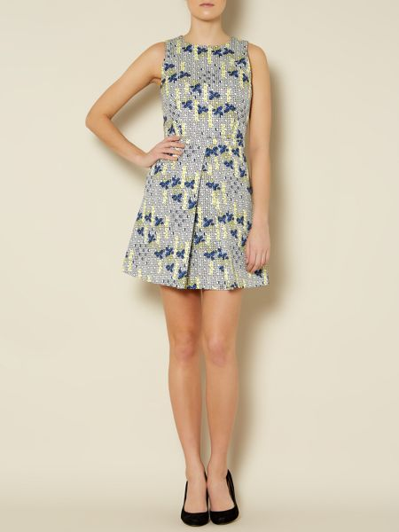 Sportmax Code Terzo flower print fit and flare dress