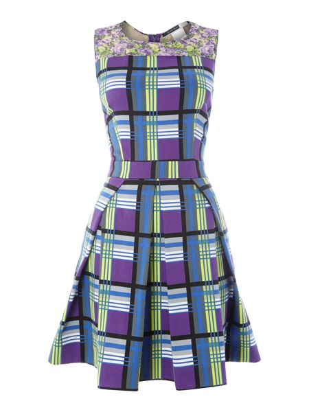Sportmax Code BOUQUETsleeveless check print dress