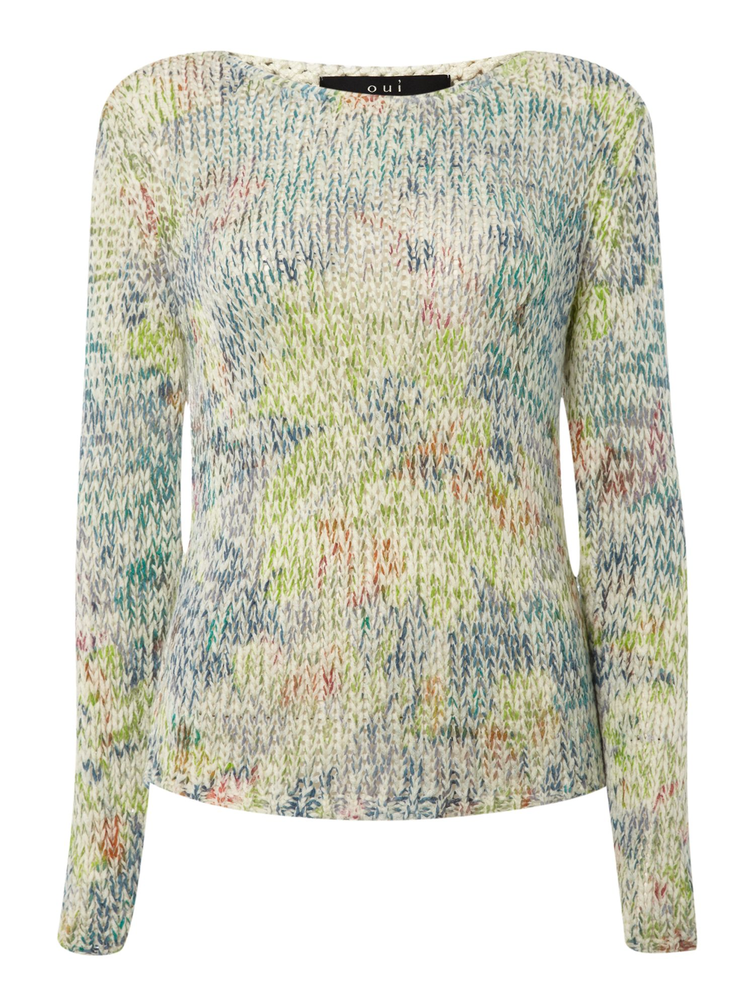 Loose multi knitted jumper