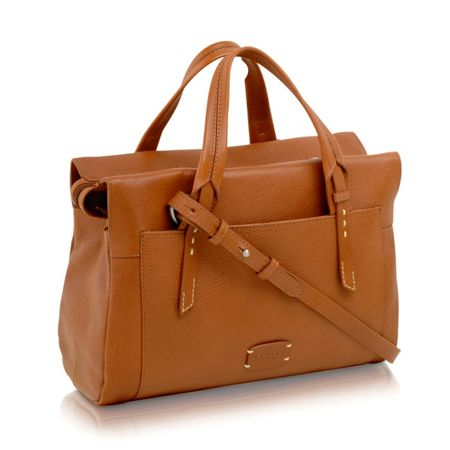Radley Barnsley tan medium cross body tote bag
