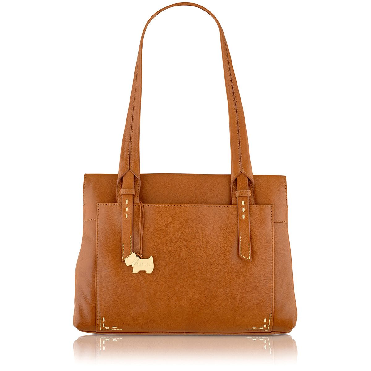 Barnsley tan medium shoulder bag