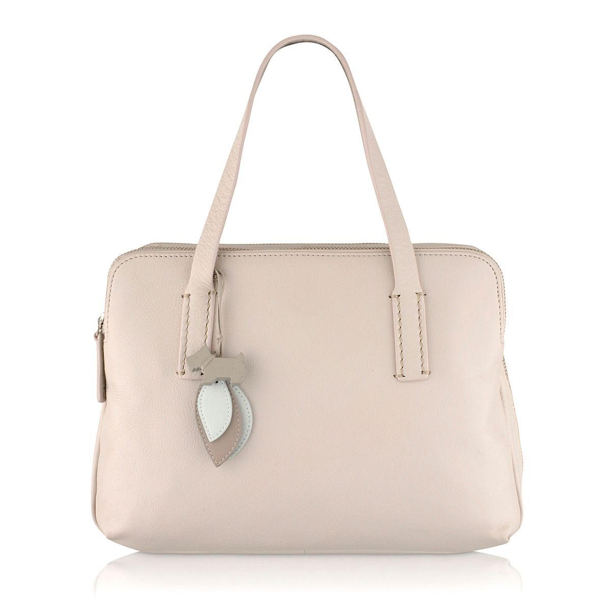 Bayer cream medium leather tote bag