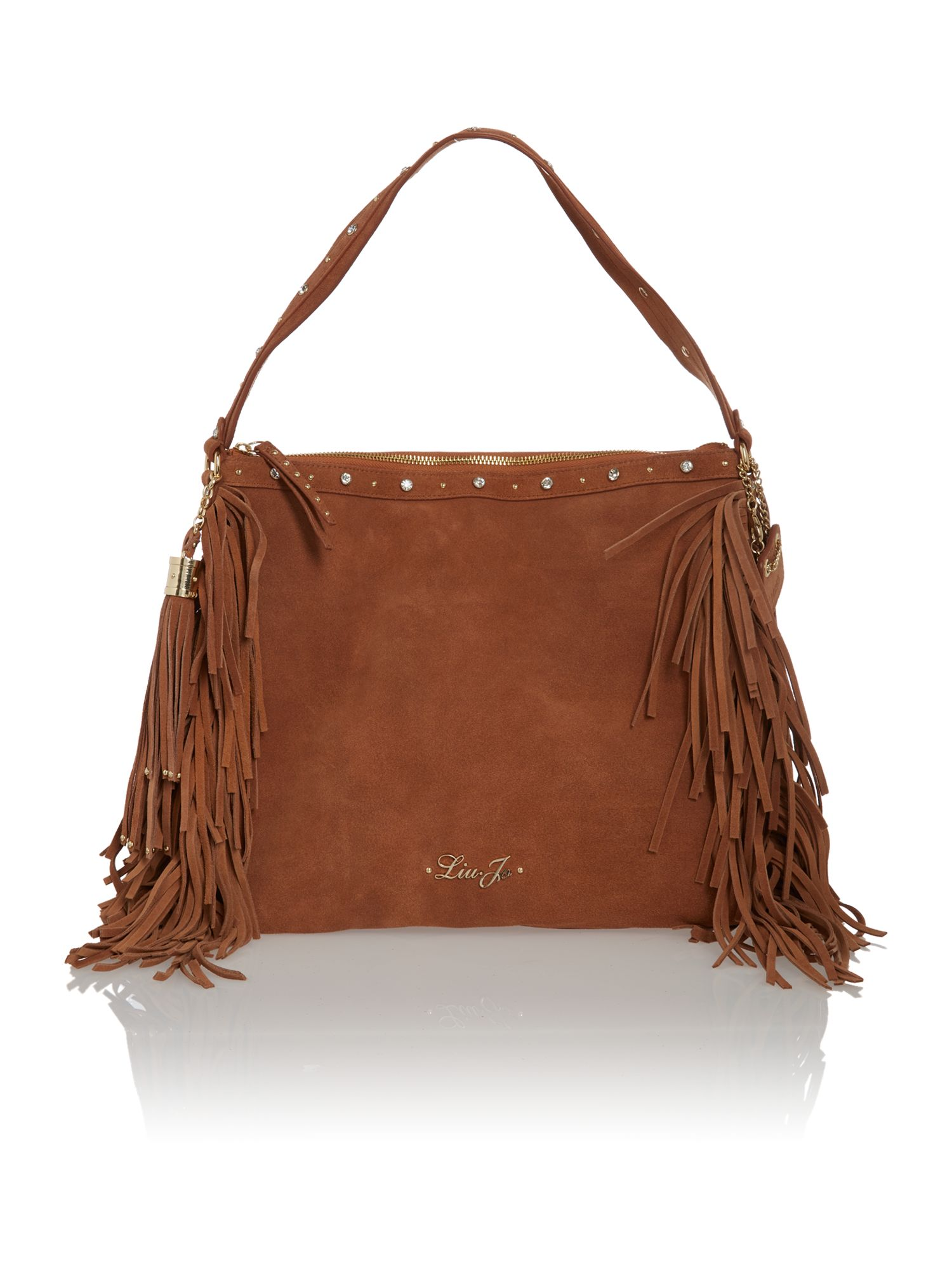 Diana brown tassle large crossbody bag