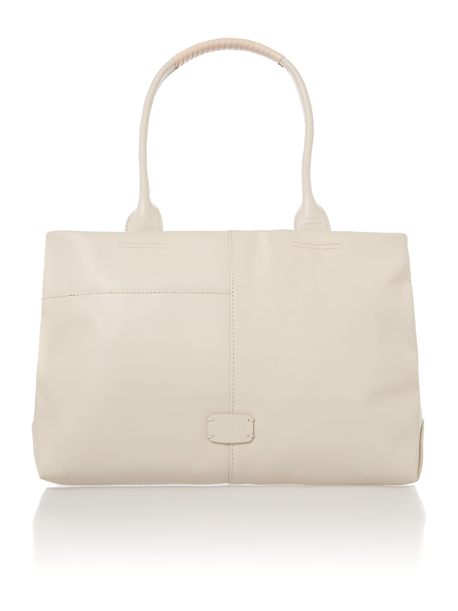 Bayford cream small leather tote bag