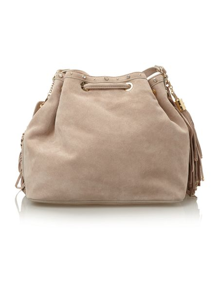 Liu Jo Diana neutral tassle crossbody