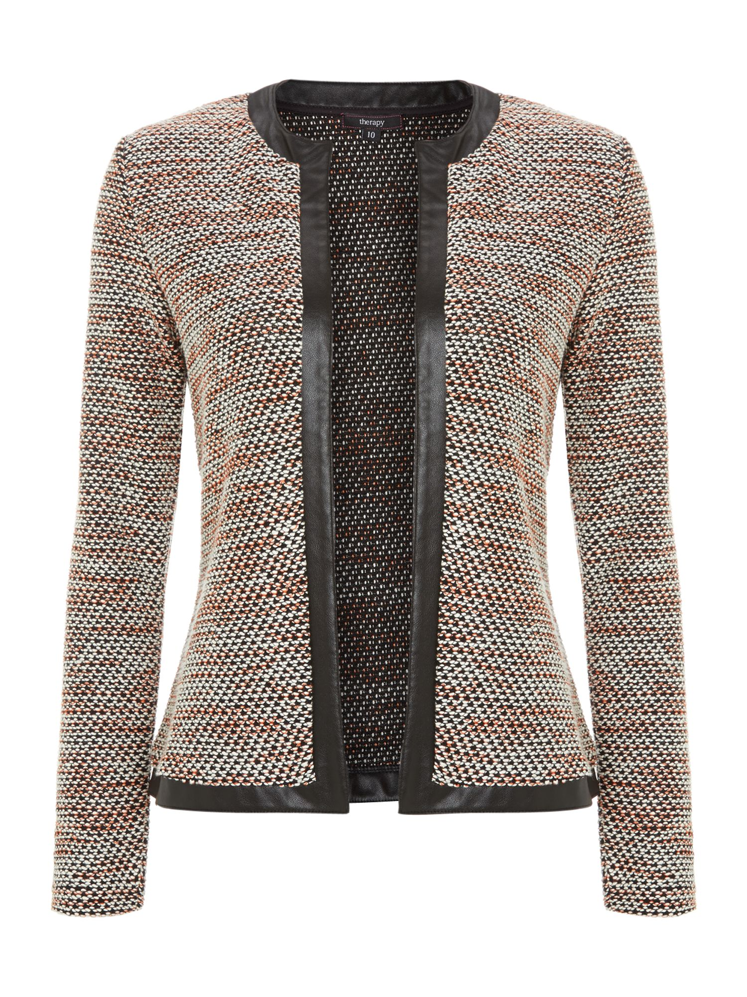 Multi coloured textured boucle jacket