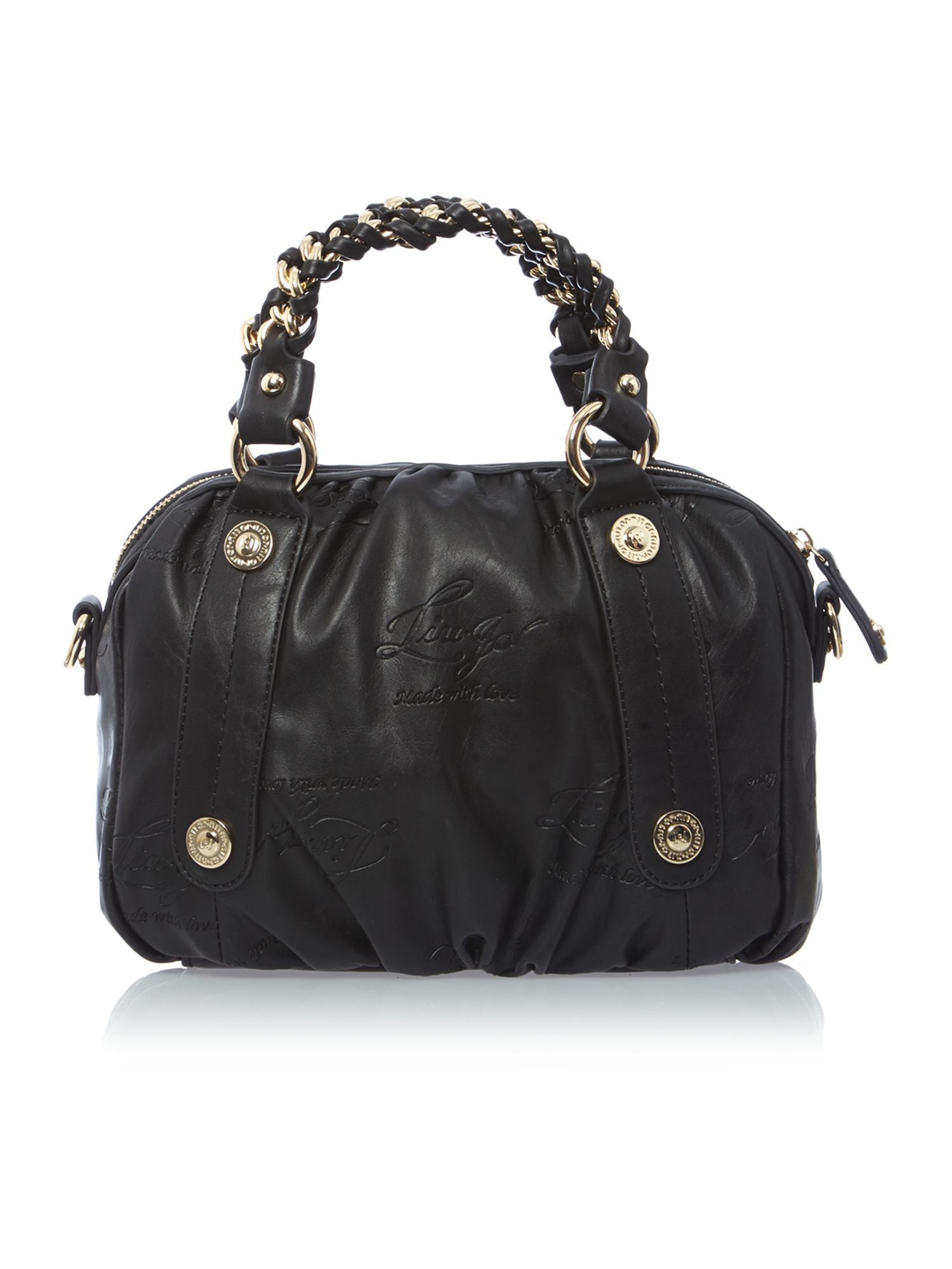 Kate black chain tote bag