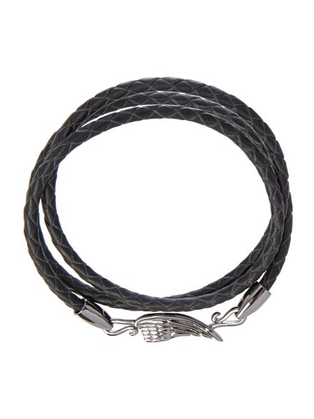 Simon Carter Gunmetal wing wrap bracelet