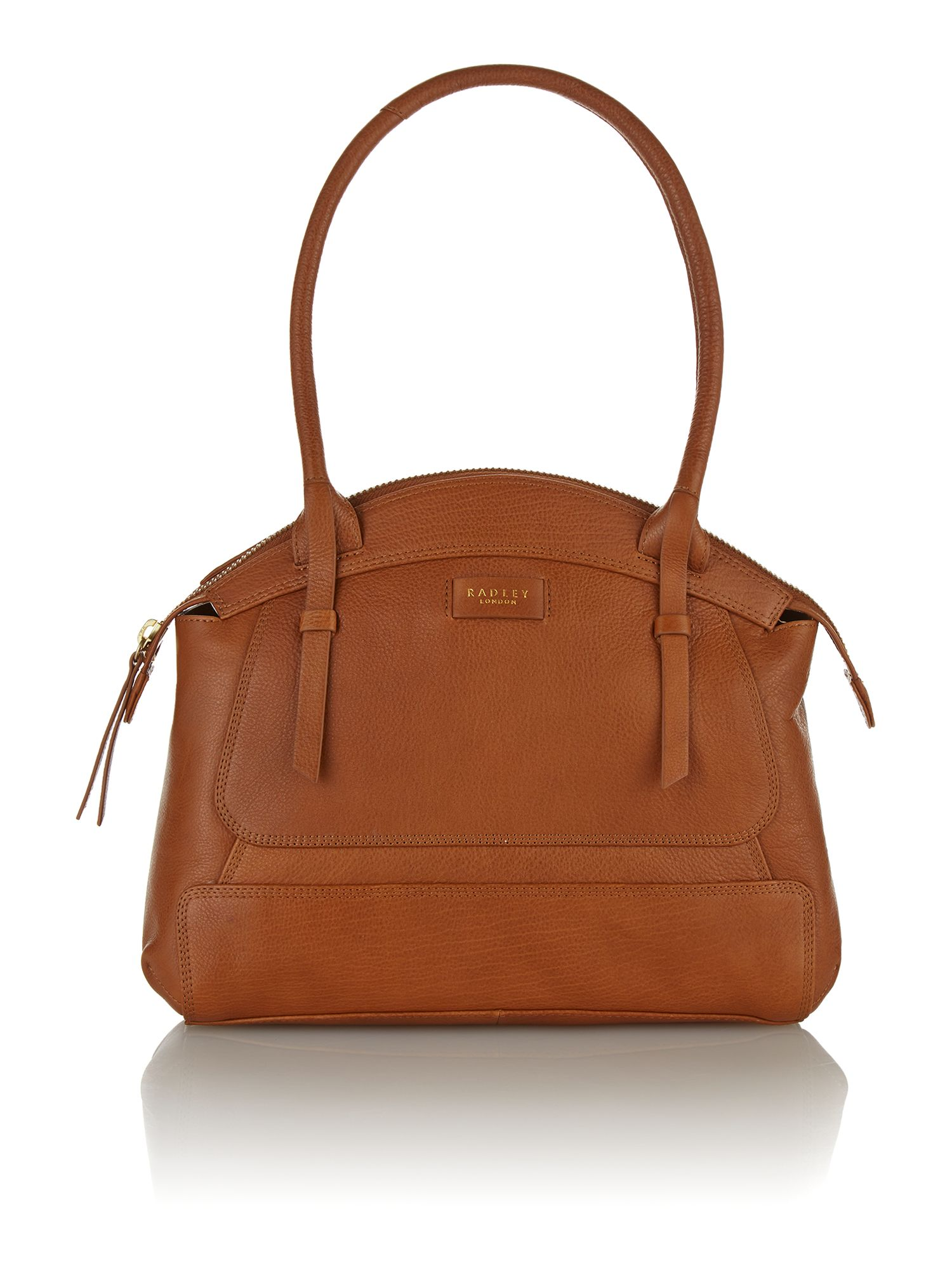Tan medium tote bag