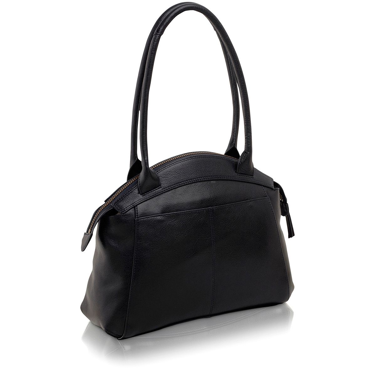 Clayton navy medium leather tote bag