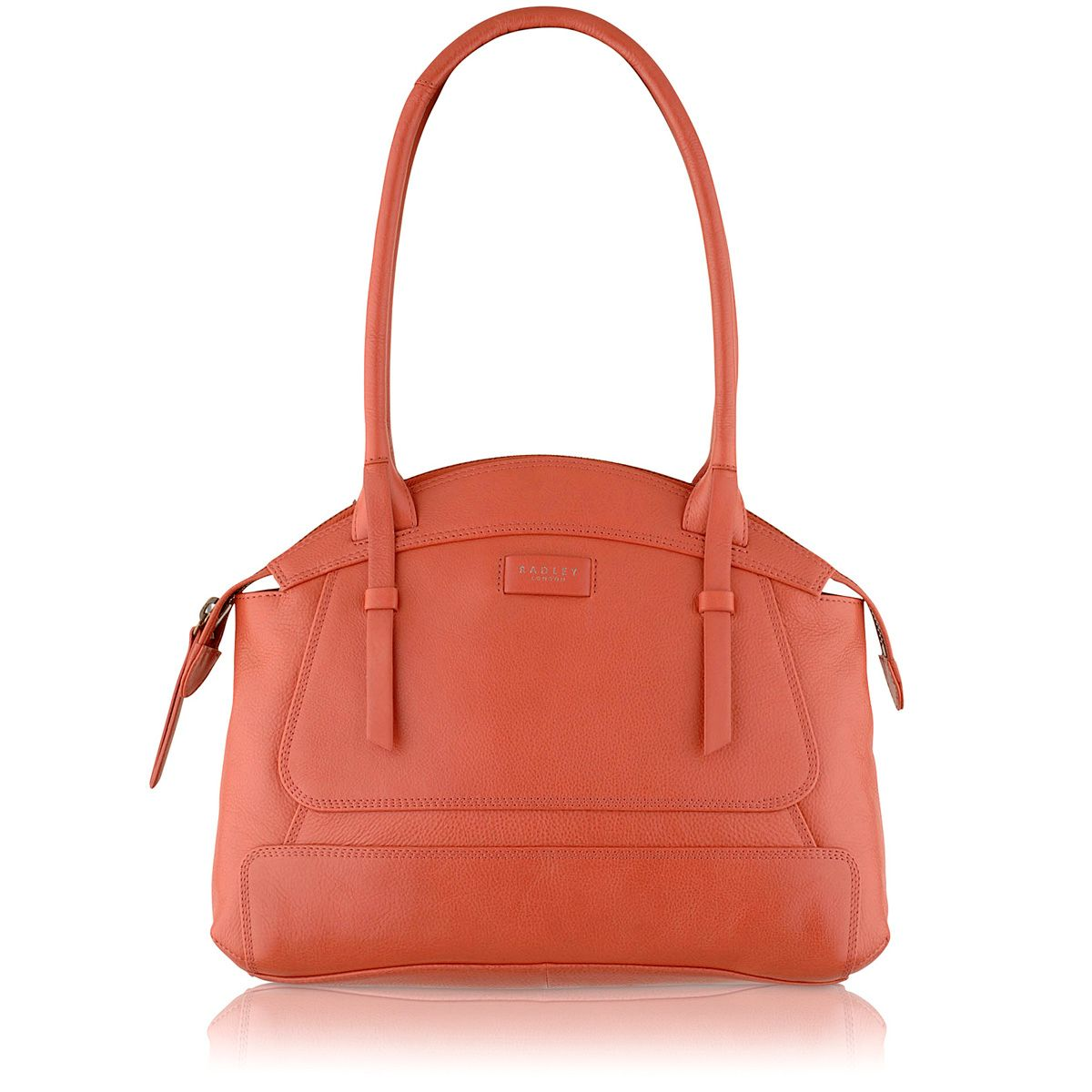 Clayton pink medium leather tote bag