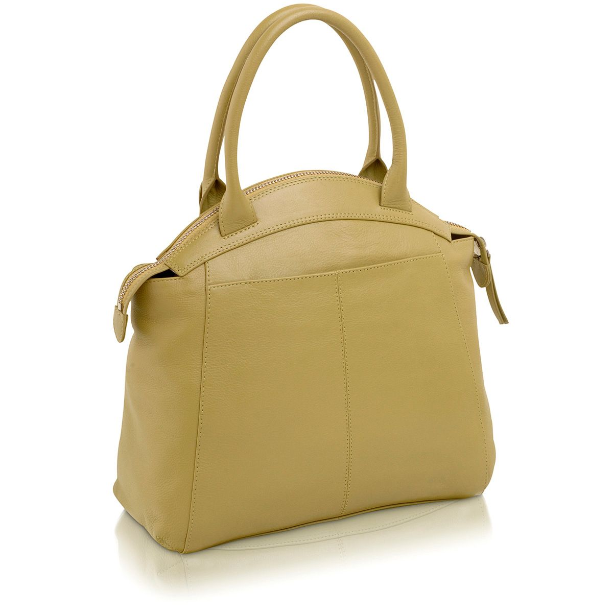 Clayton green large leather grab bag