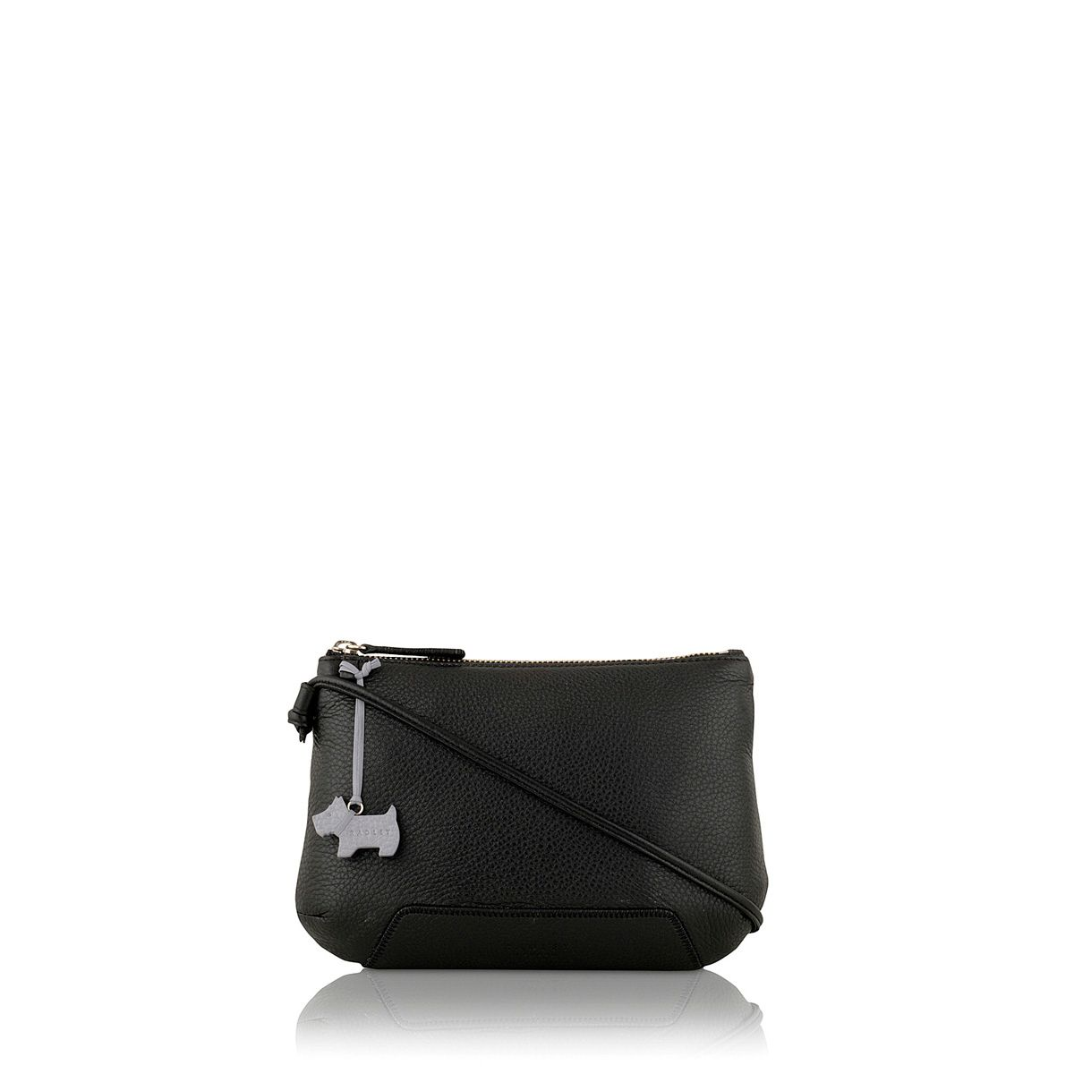 Dayton black small leather cross bady bag