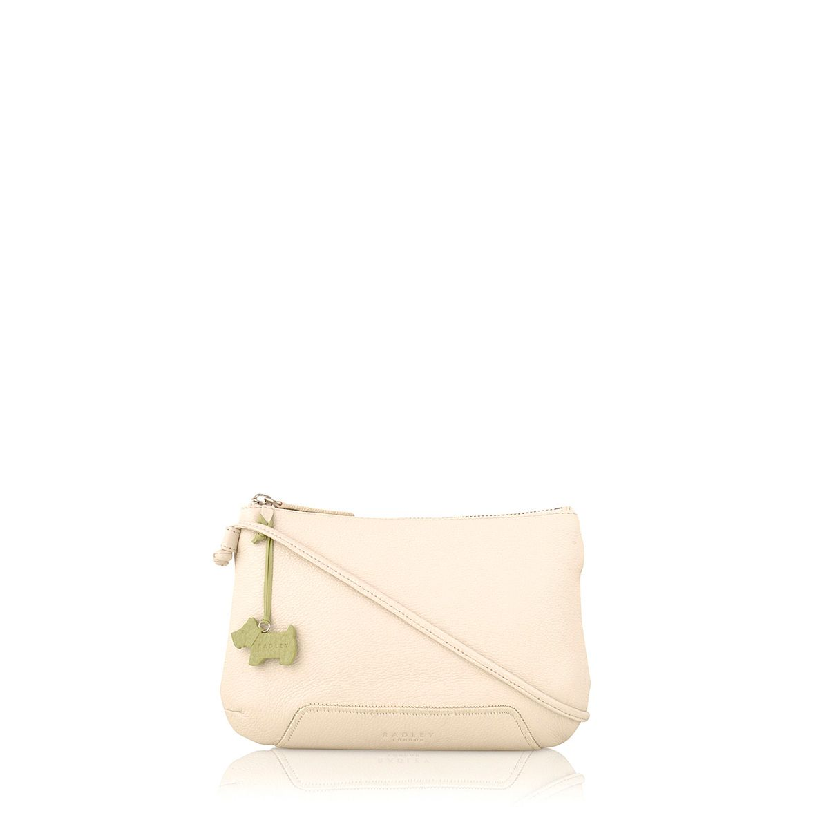 Dayton cream small leather cross body bag
