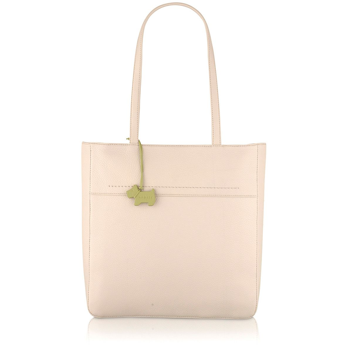 Dayton cream large leather tote bag