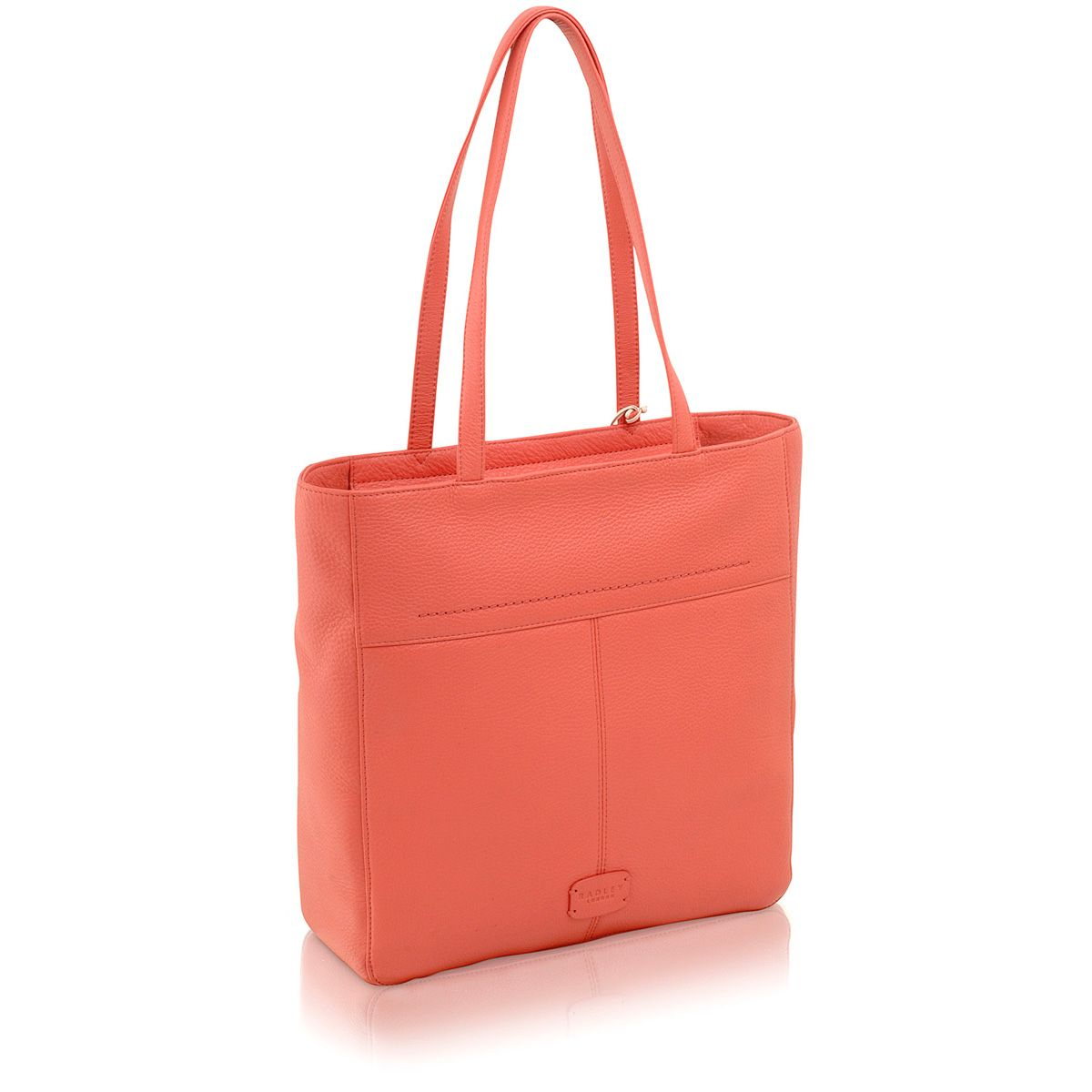 Dayton pink large leather tote bag
