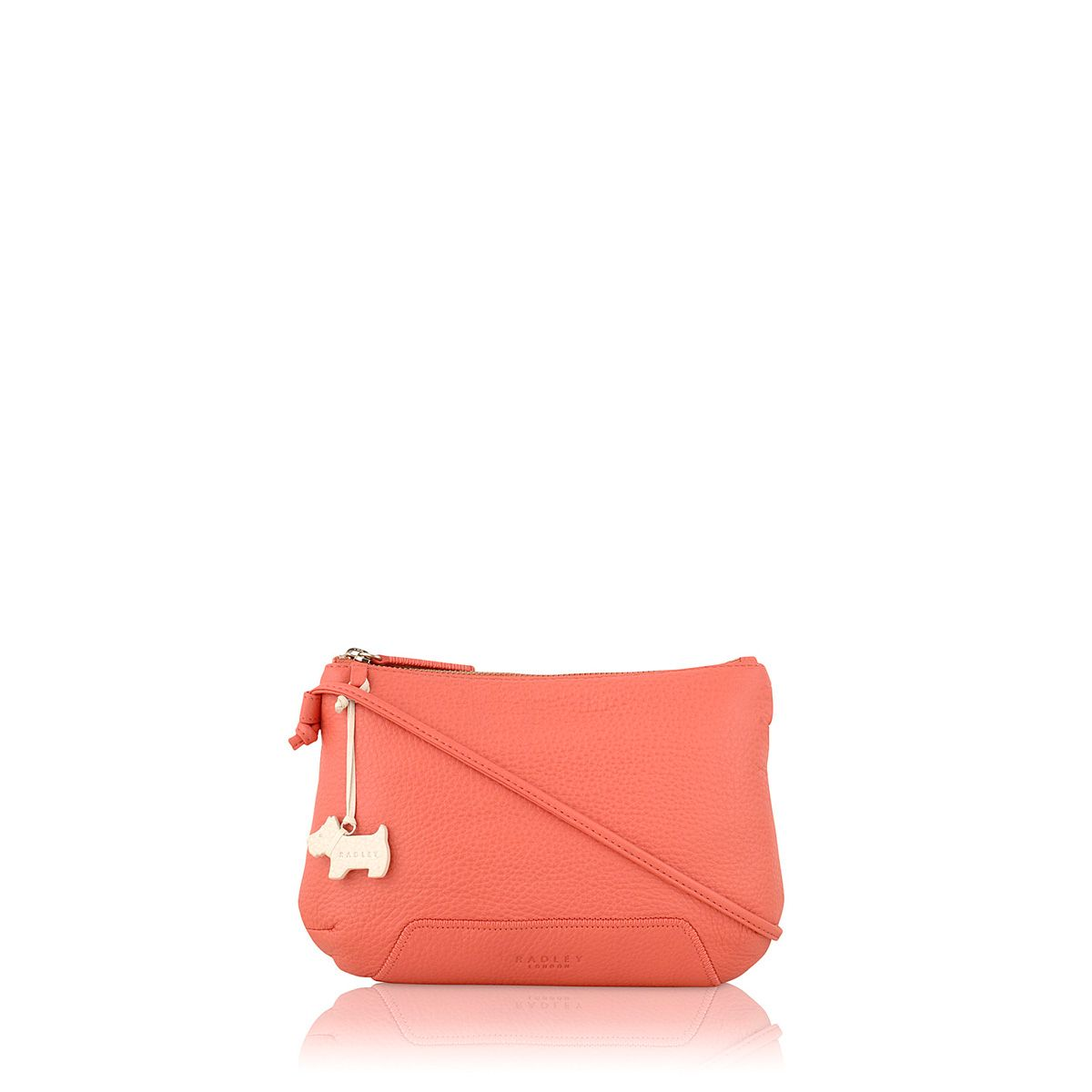 Dayton pink small leather cross body bag