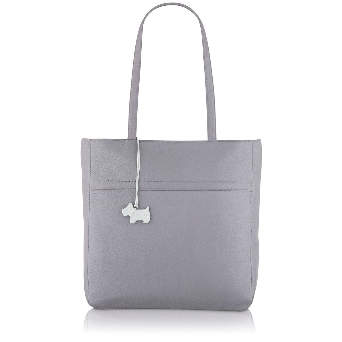 Purple large tote bag