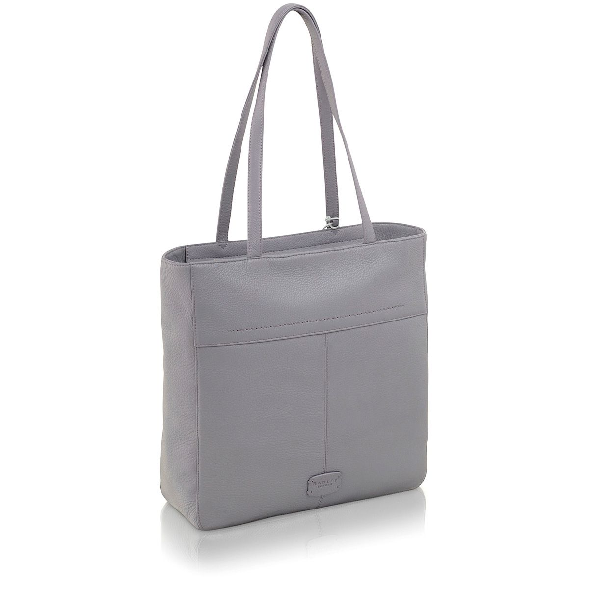 Dayton purple large leather tote bag
