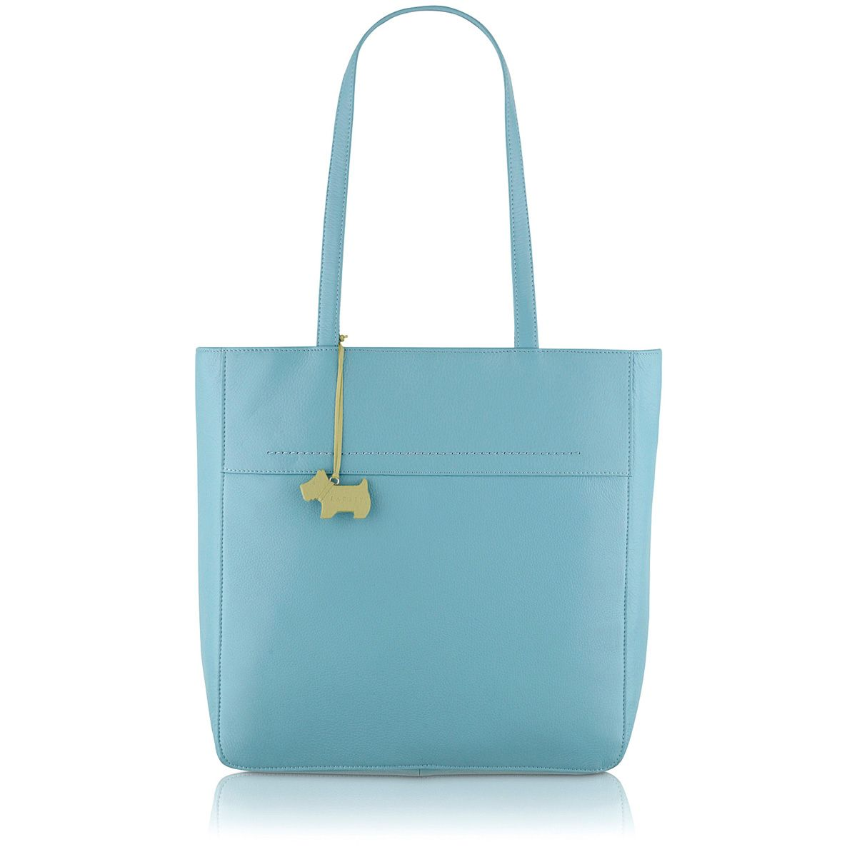 Blue large tote bag