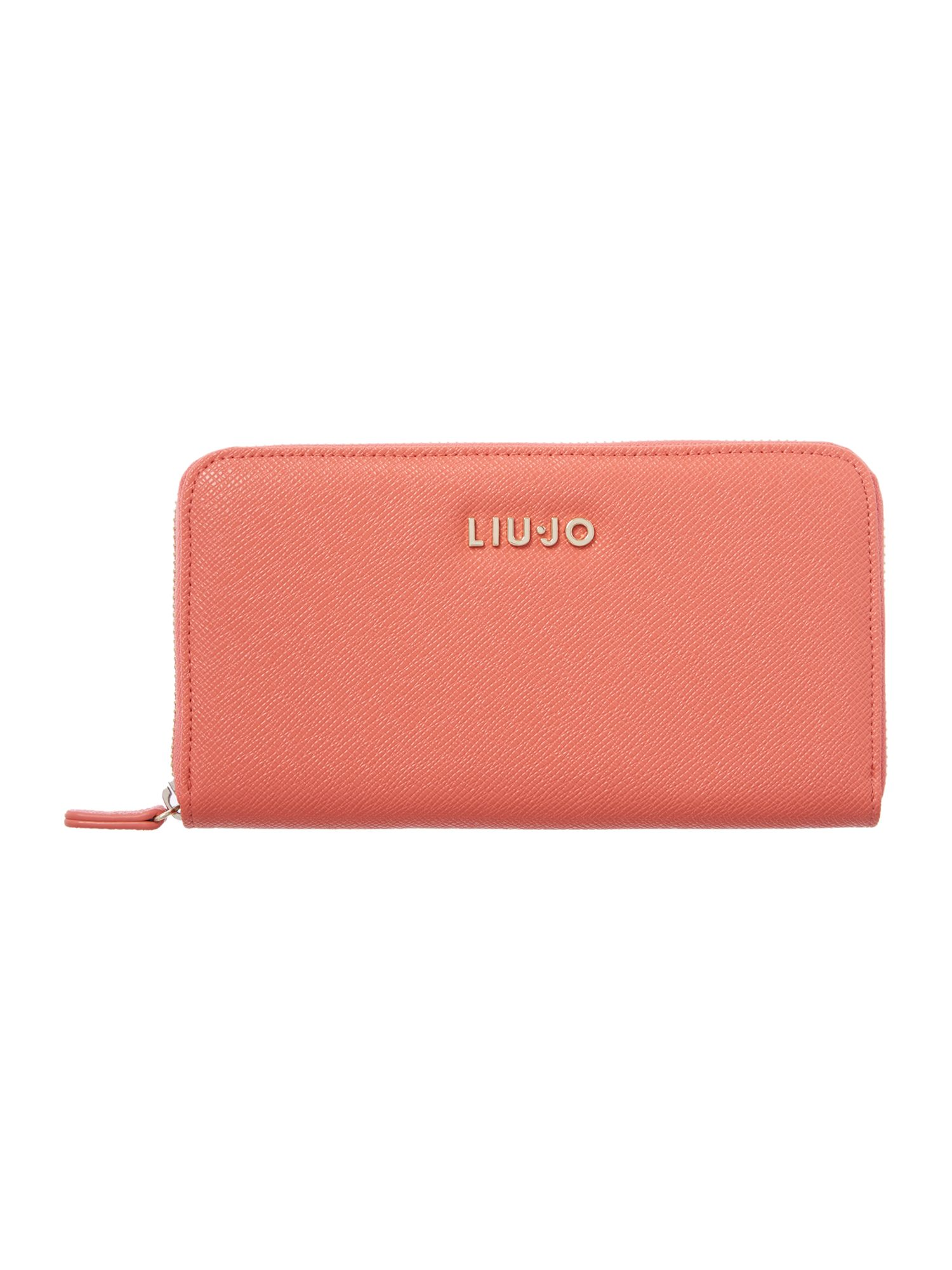 Anna coral zip around purse