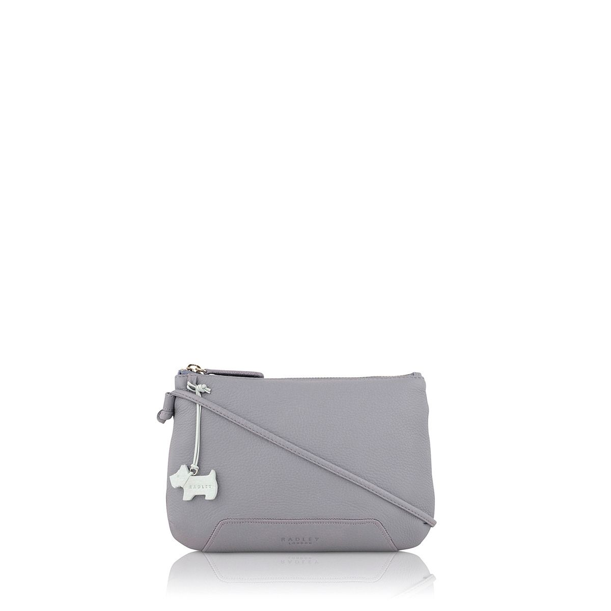 Dayton purple small leather cross body bag