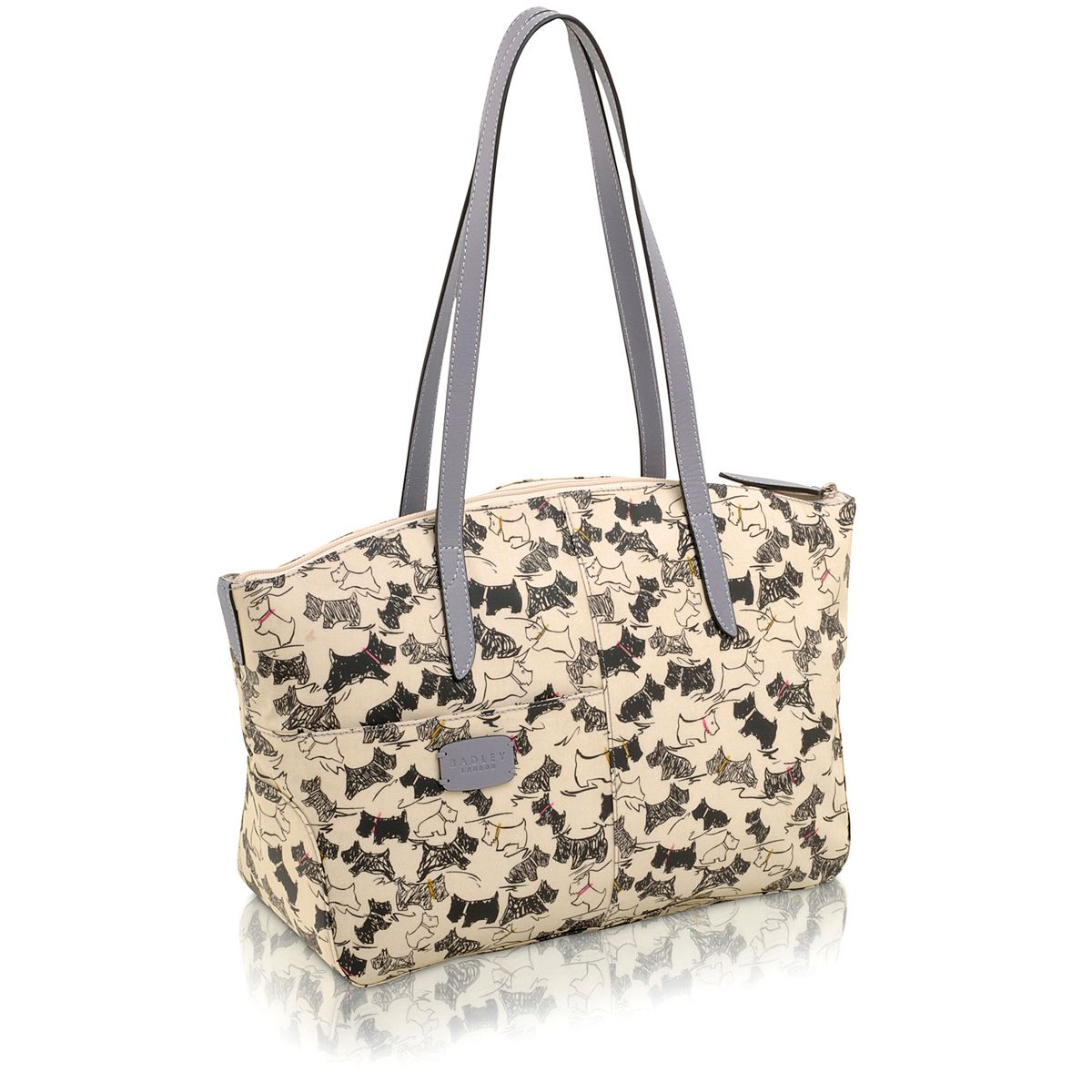 Cream doodle dog medium tote bag