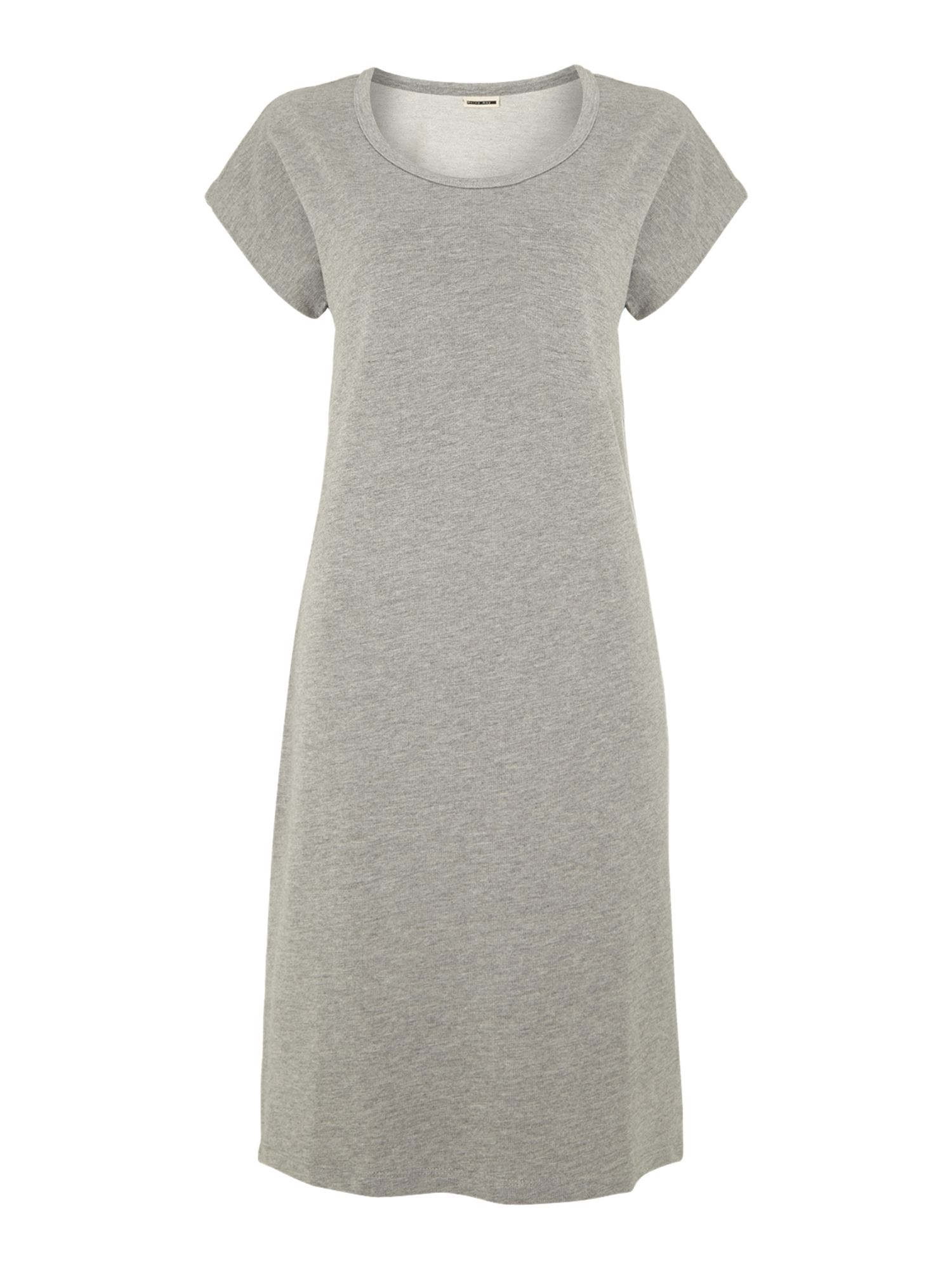 Short sleeve hi-low sweater dress