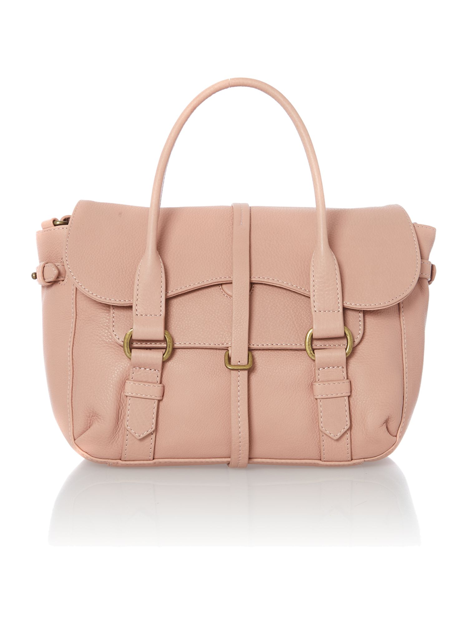 Grosnevor pale pink medium flapover satchel bag