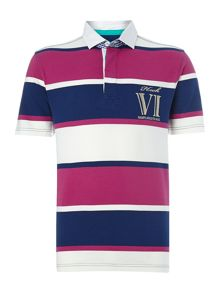 kings stripe short sleeve rugby