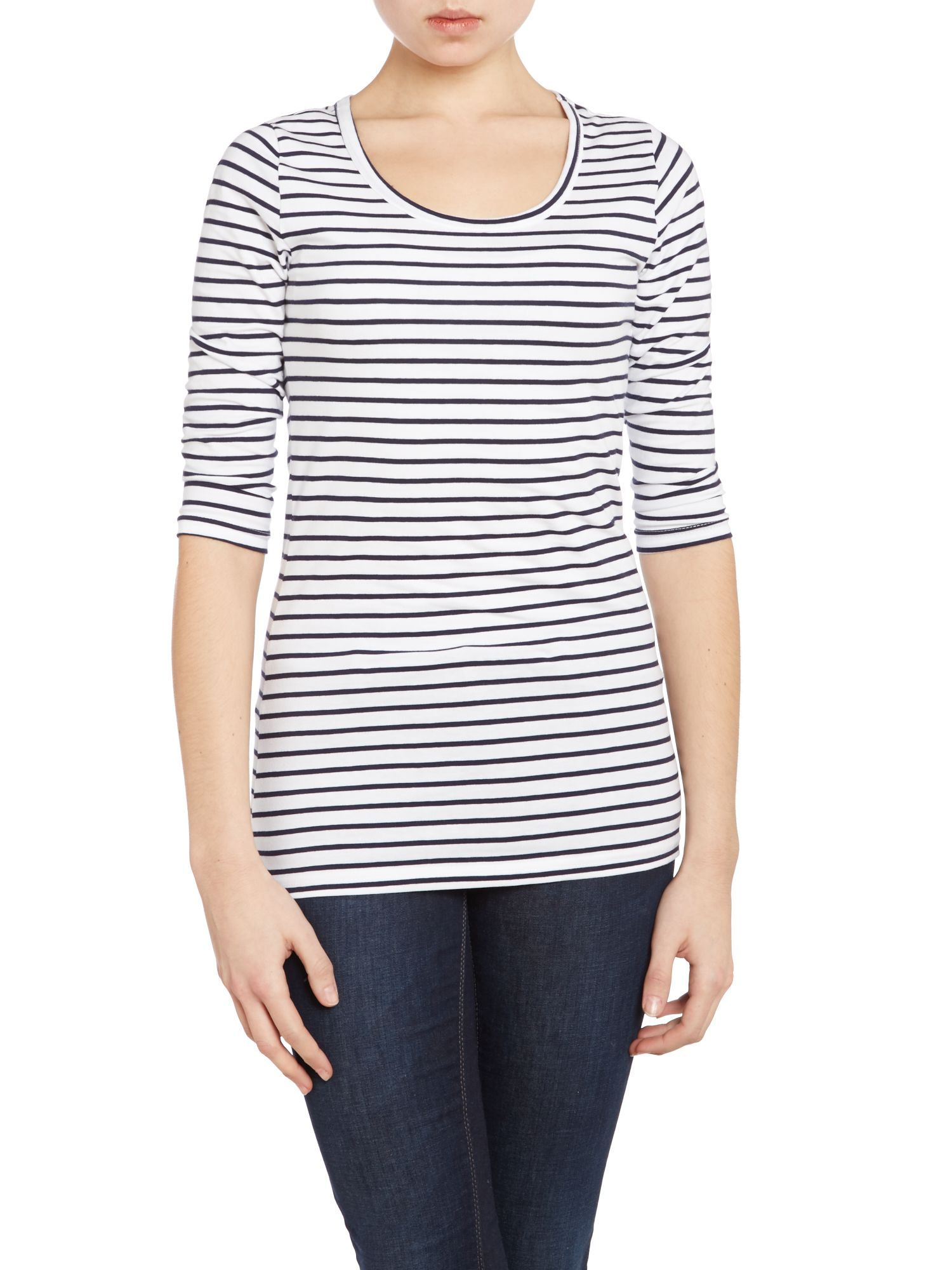 Noos crew neck stripe t shirt